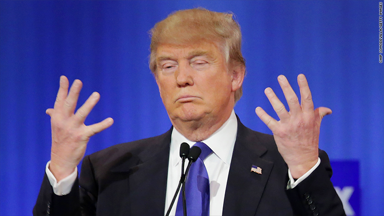 Trump Models His Tiny Fingers