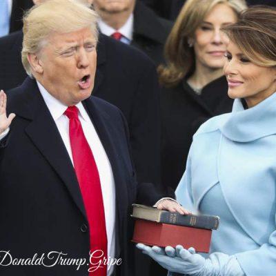 Tiny Hands Trump Take Inauguration Oath
