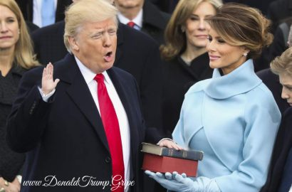 Tiny Hands Trump Takes the Oath of Office