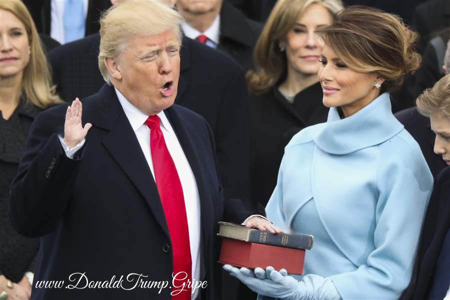 Tiny Hands Trump Take Inauguration Oath