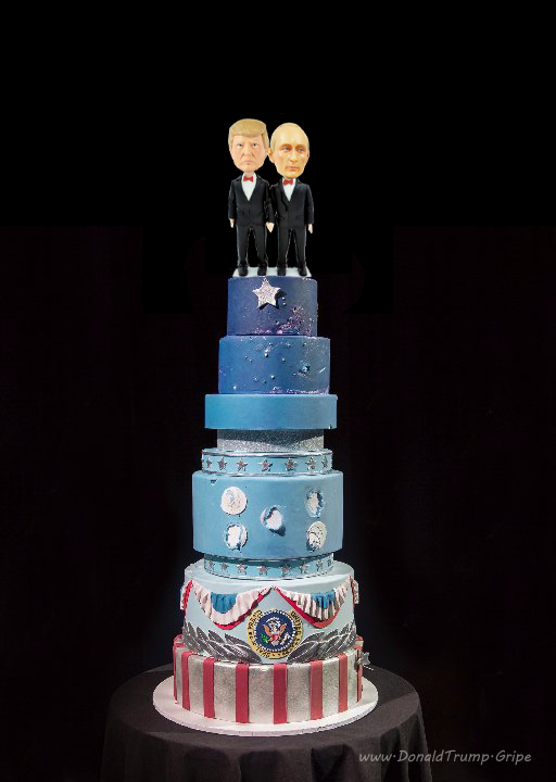 inauguration wedding cake putin trump